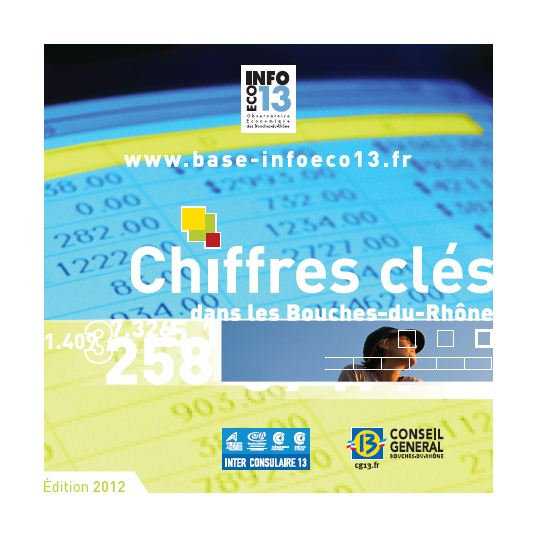 Chiffres clés dans les Bouches-du-Rhône, édition 2012