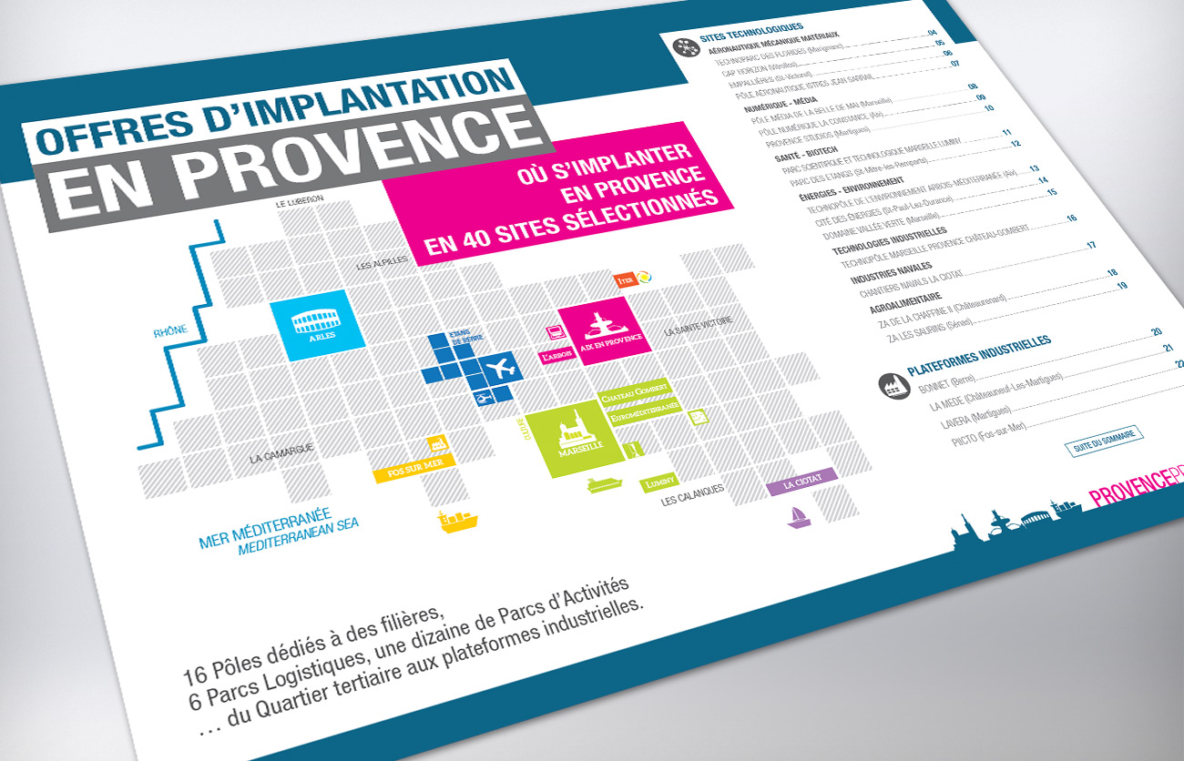 Catalogue des sites d'implantation en Provence
