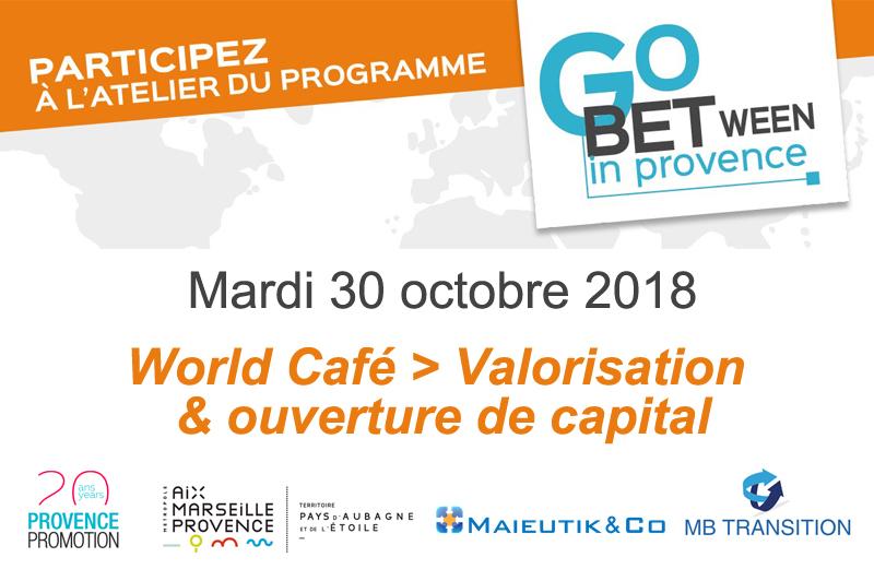 Participez à un world café autour de la valorisation et de l'ouverture du capital à Aubagne