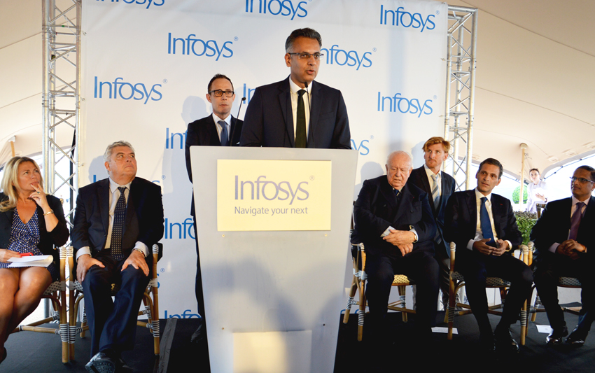 The Indian IT leader, Infosys, drops anchor in Marseille