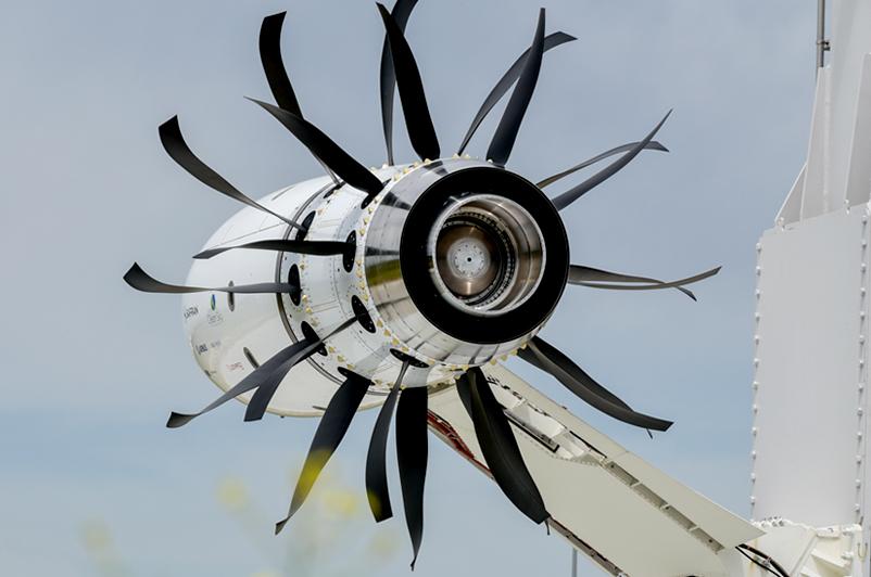 L'Open Rotor, moteur du futur du groupe Safran, est testé à Istres