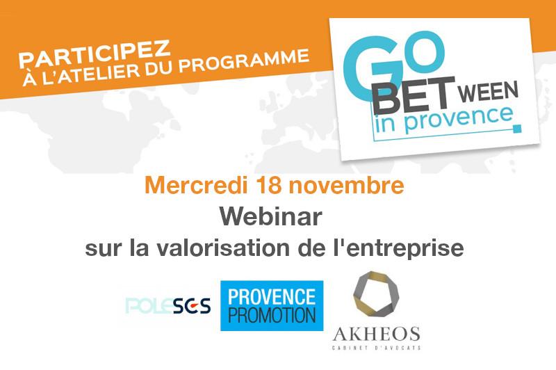 Atelier digital Go Between in Provence sur la valorisation de l'entreprise